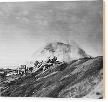 Wwii Iwo Jima Beachhead  Wood Print by Historic Image