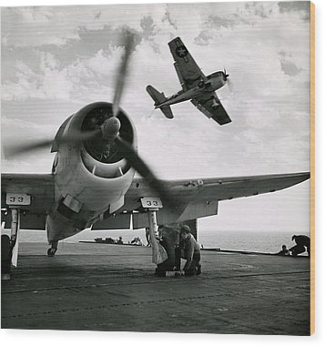Wwii Us Navy Hellcats Wood Print
