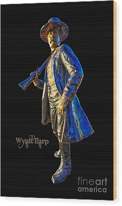 Wyatt Earp Statue Hdr Poster Wood Print by Andreas Hohl