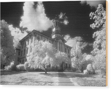 Wyoming County Courthouse Wood Print by Jim Cook