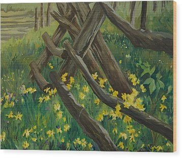 Wyoming Summer Wood Print by Terry Holliday