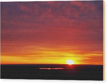 Wyoming Sunrise Wood Print