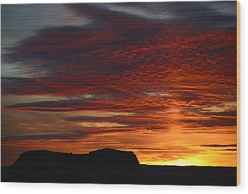 Wyoming Sunset #1 Wood Print