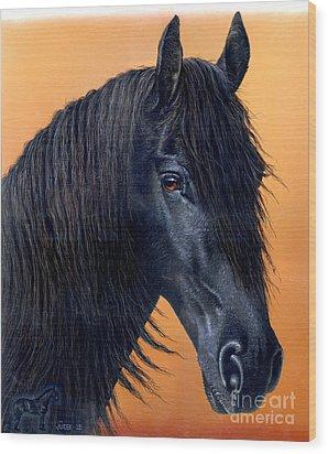 Wytse Wood Print by Jurek Zamoyski