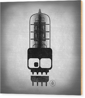X-ray Tubeskull Wood Print by Milton Thompson