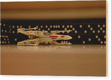 X Wing Wood Print