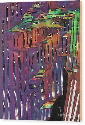Xanadu Ice Caverns Wood Print by Sarah Loft