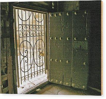 Xiv Century Church Door Wood Print