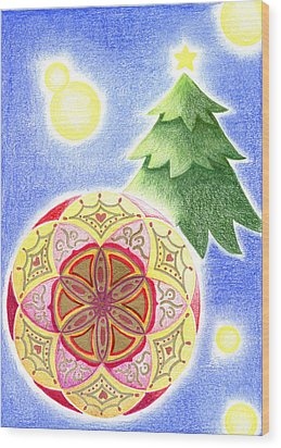 X'mas Ornament Wood Print