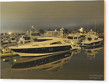 Wood Print featuring the digital art Yacht  by Gandz Photography