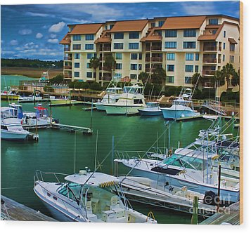 Yachts Of The Rich And Famous Wood Print by Dave Bosse