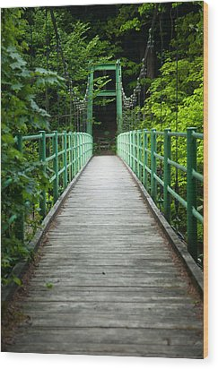 Yagen Forest Bridge Wood Print