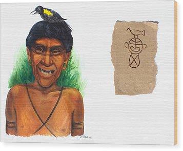 Yahubaba Wood Print by Alejandra Baiz