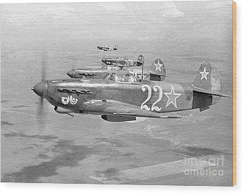 Yakovlev Yak-9 Fighters, 1942 Wood Print by Ria Novosti