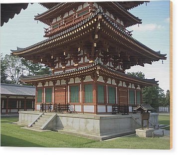 Yakushi-ji Temple West Pagoda - Nara Japan Wood Print by Daniel Hagerman