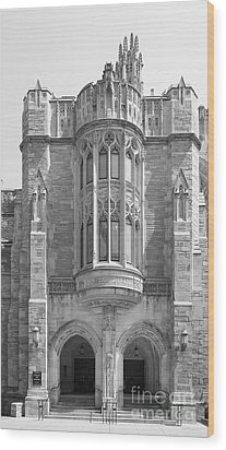 Yale University Sterling Law Building Wood Print by University Icons
