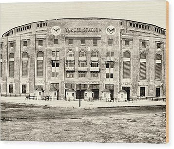 Yankee Stadium Wood Print by Bill Cannon