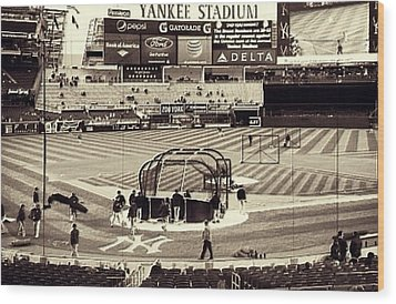 Yankee Stadium Wood Print by CD Kirven