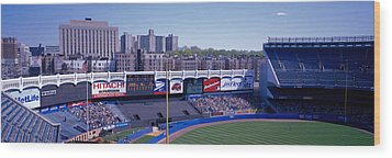 Yankee Stadium Ny Usa Wood Print by Panoramic Images