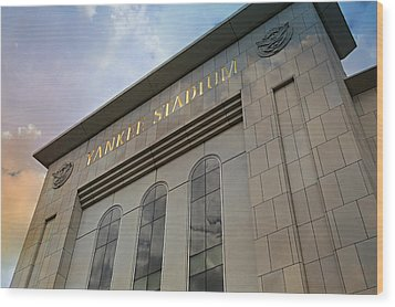 Yankee Stadium Wood Print by Stephen Stookey
