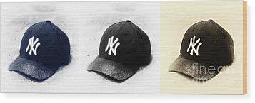 Yankees Wood Print by John Rizzuto