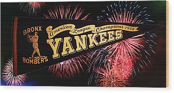 Yankees Pennant 1950 Wood Print by Bill Cannon
