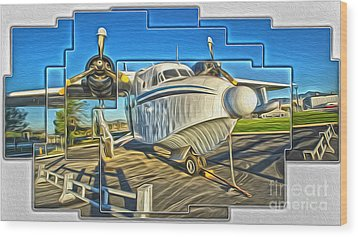 Yanks Air Museum Wood Print by Gregory Dyer