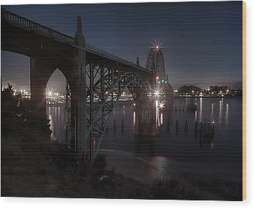 Yaquina Bay Bridge - Newport Oregon Wood Print by Daniel Hagerman