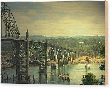 Yaquina Bay Bridge Or Wood Print
