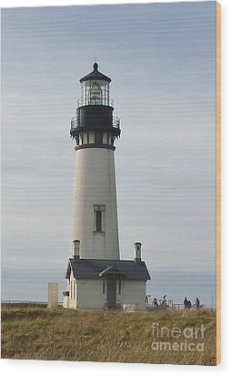 Yaquina Bay Lighthouse Wood Print by Susan Garren