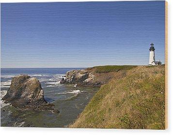 Yaquina Head Lighthouse 4 Wood Print