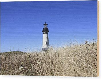 Yaquina Head Lighthouse Wood Print by David Gn