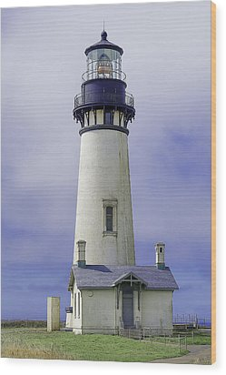 Yaquina Head Lighthouse Wood Print by Dennis Bucklin