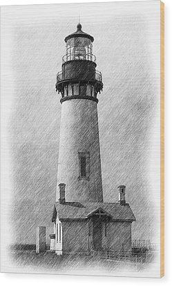 Yaquina Lighthouse Wood Print by Dennis Bucklin