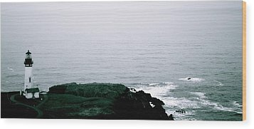 Yaquina Shores Wood Print by Sheldon Blackwell