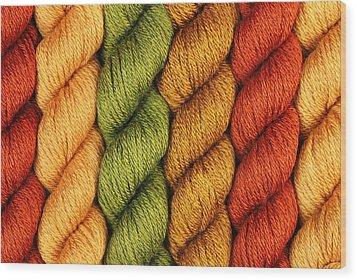 Yarn With A Twist Wood Print by Jim Hughes