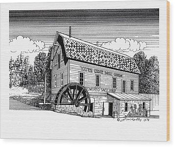 Yates Cider Mill Wood Print by J W Kelly