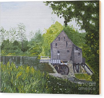 Yates Mill Summer Wood Print by Kevin Croitz