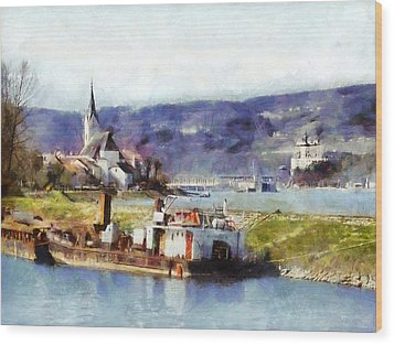 Ybbs An Der Donau Harbour Wood Print
