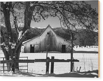 Ye Old Barn Wood Print by Randy Wood