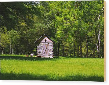 Wood Print featuring the photograph Ye Old Cabin by Andy Lawless