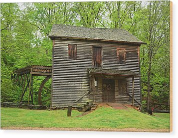 Wood Print featuring the photograph Ye Olde Grist Mill by Bob Sample