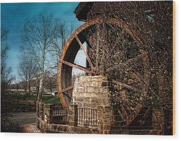 Ye Olde Mill Wood Print by Tom Mc Nemar