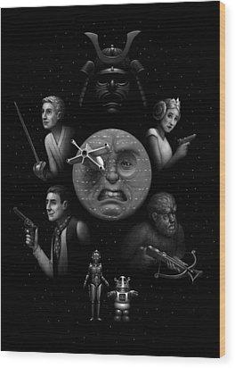 Ye Olde Space Movie Wood Print