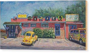 Ye Ole Hippie Emporium Wood Print by Patty Kay Hall