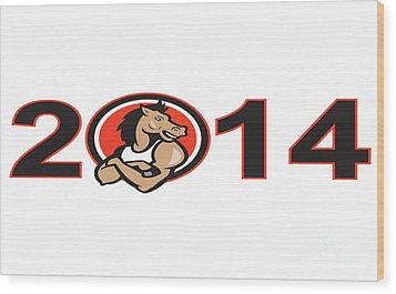 Year Of Horse 2014 Mascot Wood Print by Aloysius Patrimonio