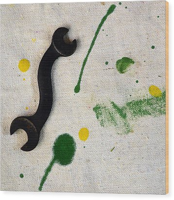 Yellow # 5 Wood Print by Tom Druin