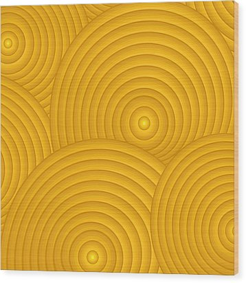 Yellow Abstract Wood Print