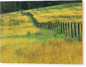 Yellow Afternoon Wood Print by Emanuel Tanjala