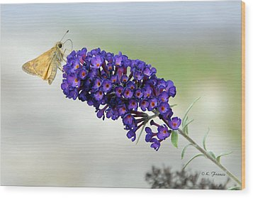 Yellow And Purple Wood Print by Kenny Francis